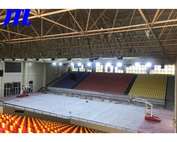 山(shan)東現代學院(yuan)體育館燈光照(zhao)明工程